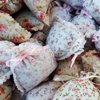 Mini-sachets de lavande de Provence, motif floral